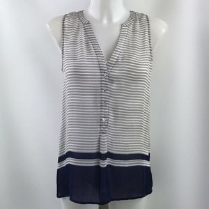 Joie White And Blue Striped Tank Top Size XS